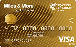 Дебетовая карта Русский Стандарт Miles & More Visa Gold