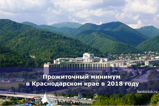 Прожиточный минимум в Краснодарском крае в 2018 году
