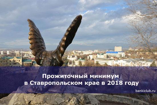 Прожиточный минимум в Ставропольском крае в 2018 году