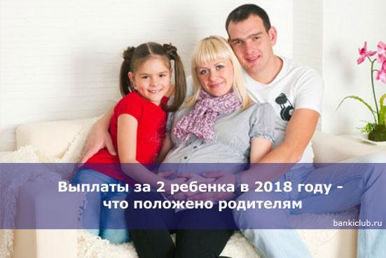 Выплаты за 2 ребенка в 2018 году - что положено родителям