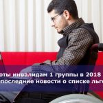 Льготы инвалидам 1 группы в 2018 году: последние новости о списке льгот
