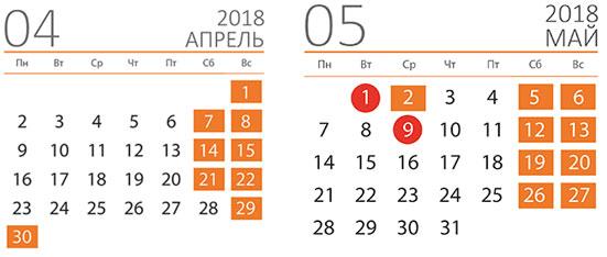 Майские праздники в 2018 году: официальные выходные по производственному календарю
