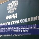 Отчет в ФСС за 2 квартал 2018 года: новая форма