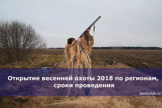 Открытие весенней охоты 2018 по регионам, сроки проведения