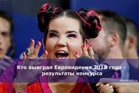 Кто выиграл Евровидение 2018 года - результаты конкурса