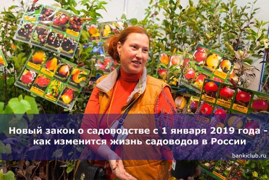 Новый закон о садоводстве с 1 января 2019 года - как изменится жизнь садоводов в России