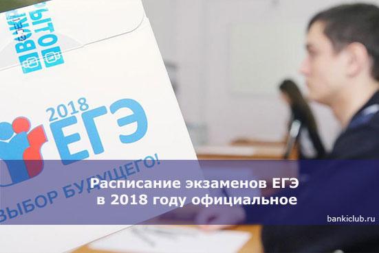 Расписание экзаменов ЕГЭ в 2020 году официальное