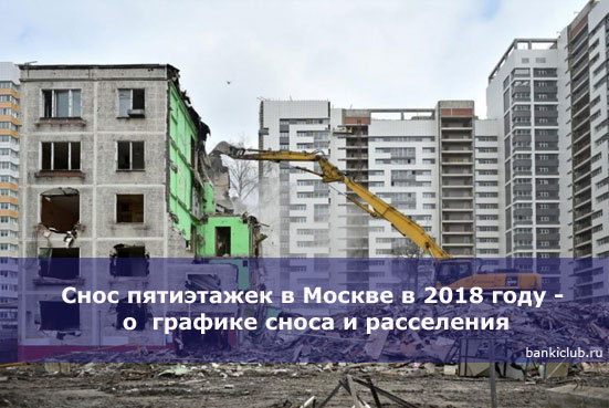 Снос пятиэтажек в Москве в 2020 году - о графике сноса и расселения