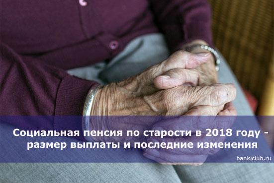 Социальная пенсия по старости в 2020 году - размер выплаты и последние изменения