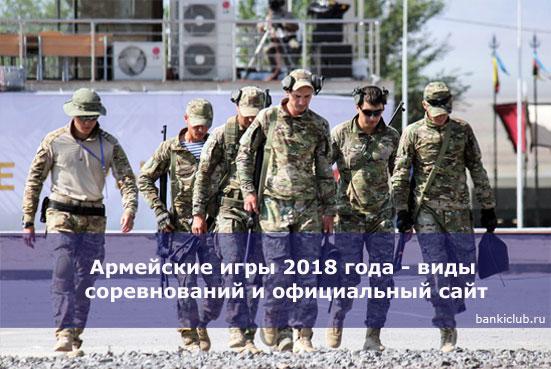 Армейские игры 2018 года - виды соревнований и официальный сайт