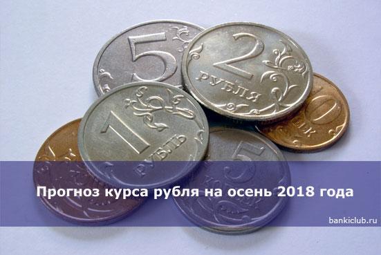 Прогноз курса рубля на осень 2020 года