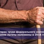 Ветеран труда федерального значения — какие льготы положены в 2018 году