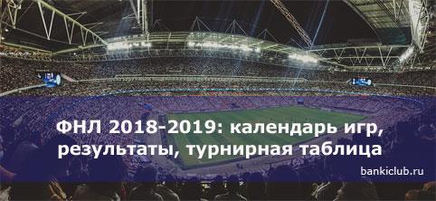 ФНЛ 2018-2019: календарь игр, результаты, турнирная таблица