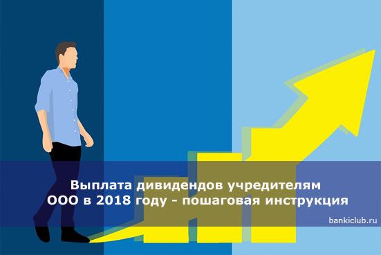 Как производится выплата дивидендов учредителям ООО в 2018 году - пошаговая инструкция