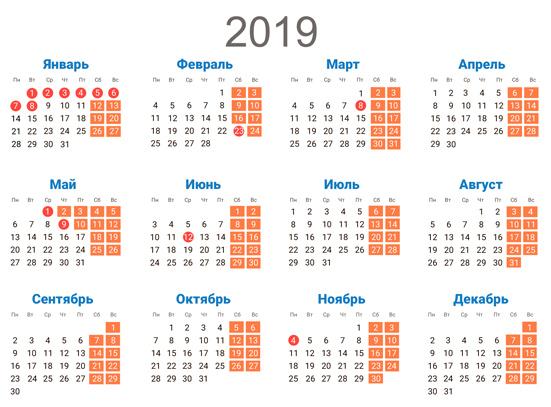 Перенос выходных дней в 2019 году: постановление правительства РФ