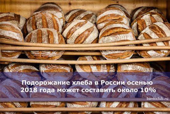 Подорожание хлеба в России осенью 2020 года может составить около 10%