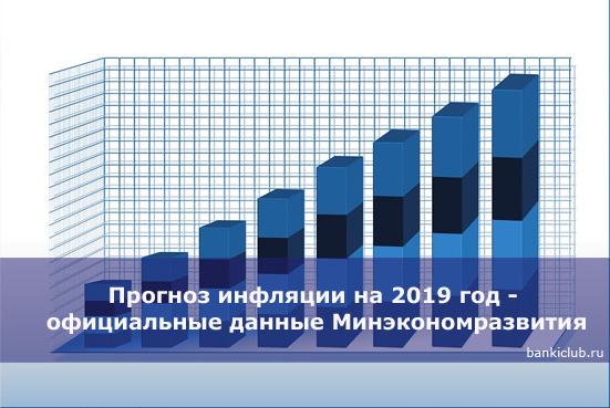Прогноз инфляции на 2020 год - официальные данные Минэкономразвития