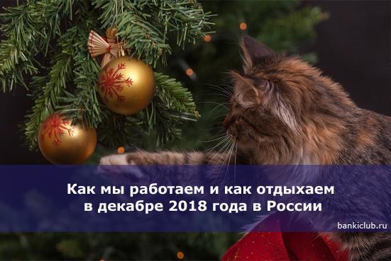 Как мы работаем и как отдыхаем в декабре 2018 года в России