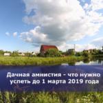 Дачная амнистия — что нужно успеть до 1 марта 2019 года