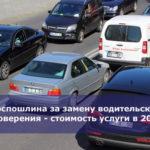 Госпошлина за замену водительского удостоверения — стоимость услуги в 2019 году