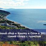Курортный сбор в Крыму и Сочи в 2019 году — сумма сбора с туристов