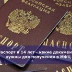 Паспорт в 14 лет — какие документы нужны для получения в МФЦ