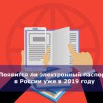 Появится ли электронный паспорт в России уже в 2019 году