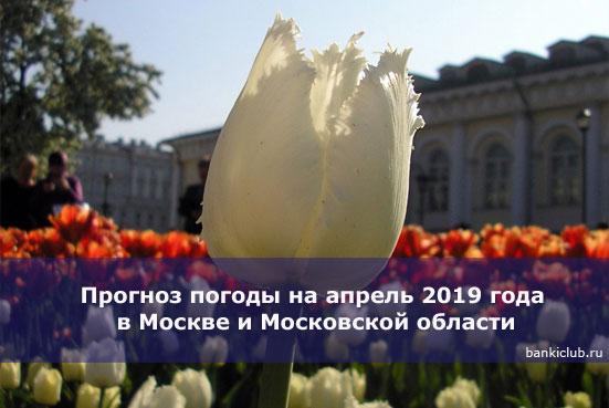 Прогноз погоды на апрель 2019 года в Москве и Московской области