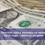 Прогноз курса доллара на июль 2019 года — таблица по дням