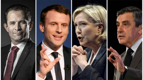 Выборы во Франции 2017 года: последние рейтинги кандидатов